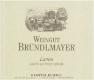 Weingut Bründlmayer Grüner Veltliner Lamm - label