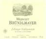 Weingut Bründlmayer Riesling Zöbinger Heiligenstein Alte Reben - label