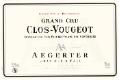 Jean-Luc et Paul Aegerter Clos de Vougeot Grand Cru  - label