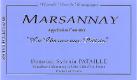 Domaine Sylvain Pataille Marsannay La Charme aux Prêtres - label