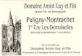 Domaine Guy Amiot et Fils Puligny-Montrachet Premier Cru Les Demoiselles - label