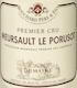 Bouchard Père et Fils Meursault Premier Cru Poruzots - label