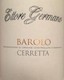 Ettore Germano Barolo Cerretta - label