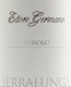 Ettore Germano Barolo Serralunga - label