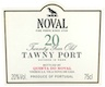 Quinta do Noval Porto  20 Year Old Tawny Port - label