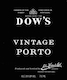 Dow's Porto  Vintage Port - label