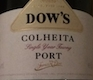 Dow's Porto  Colheita Port - label