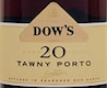 Dow's Porto  20 Year Old Tawny Port - label