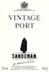 Sandeman Porto  Vintage Port - label