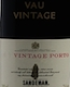 Sandeman Porto Quinta do Vau Vintage Port - label