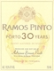 Ramos Pinto Porto  30 Year Old Tawny Port - label