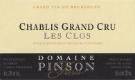 Domaine Pinson Frères Chablis Grand Cru Les Clos L'Authentique - label