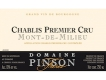 Domaine Pinson Frères Chablis Premier Cru Mont de Milieu - label