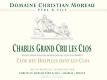 Domaine Christian Moreau Père et Fils Chablis Grand Cru Les Clos Clos des Hospices dans les Clos - label