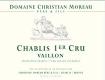 Domaine Christian Moreau Père et Fils Chablis Grand Cru Valmur - label