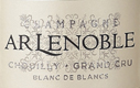 A. R. Lenoble Blanc de Blancs Brut Grand Cru - label