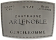 A. R. Lenoble Gentilhomme Blanc de Blancs Grand Cru - label