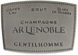 A. R. Lenoble Gentilhomme Blanc de Blancs Grand Cru - label