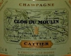 Cattier Clos du Moulin Premier Cru - label