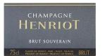 Henriot Souverain Brut Premier Cru - label