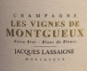 Jacques Lassaigne Les Vignes de Montgueux Blanc de Blancs Extra Brut - label