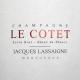 Jacques Lassaigne Le Cotet Extra Brut Blanc de Blancs - label