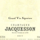 Jacquesson Signature Brut - label