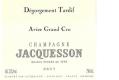 Jacquesson Dégorgement Tardif Avize Grand Cru - label