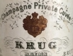 Krug Private Cuvée - label