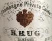 Krug Private Cuvée - label