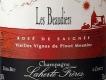 Laherte Rosé de Saignée Les Beaudiers - label