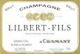 Lilbert-Fils Blanc de Blancs Brut Grand Cru - label