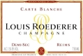 Louis Roederer Carte Blanche Demi-Sec - label