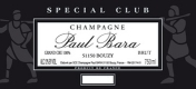 Paul Bara Spécial Club Grand Cru - label