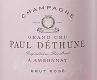 Paul Déthune Brut Rosé Grand Cru - label