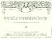 Michel Bouzereau et Fils Meursault Premier Cru Perrières - label
