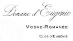 Domaine d'Eugénie (ex René Engel) Vosne-Romanée Grand Cru Clos d'Eugénie - label