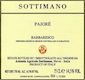 Sottimano Barbaresco Pajore - label