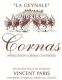 Vincent Paris Cornas La Geynale - label