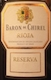 Marques de Riscal Rioja Baron de Chirel Reserva - label