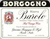 Giacomo Borgogno e Figli Barolo  Riserva - label