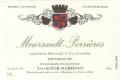 Domaine Yves Boyer Martenot Meursault Premier Cru Perrières - label
