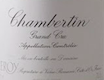 Domaine Leroy Chambertin Grand Cru  - label
