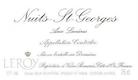 Domaine Leroy Nuits-Saint-Georges Aux Lavières - label