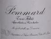 Domaine Leroy Pommard Les Trois Follots - label