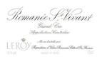 Domaine Leroy Romanée-Saint-Vivant Grand Cru  - label