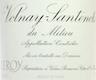 Domaine Leroy Volnay Premier Cru Santenots-du-Milieu - label