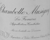Domaine Leroy Chambolle-Musigny Les Fremières - label
