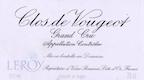 Domaine Leroy Clos de Vougeot Grand Cru  - label