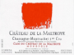 Château de la Maltroye Chassagne-Montrachet Premier Cru Clos du Château de la Maltroye Monopole Rouge - label